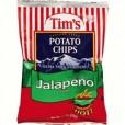 Tim's Cascade Style Potato Chips Jalapeno- 1.5oz