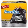 Glad ForceFlex 30 Gallon Extra Strong DrawString Trash Bags - 70ct