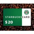 $20 Starbucks Gift Card