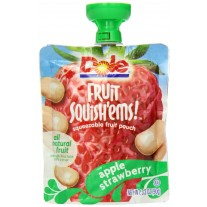 Dole Fruit Squish'ems Apple Strawberry - 3.2oz