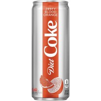 Diet Coke Zesty Blood Orange - 12oz