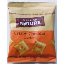 Back to Nature Crispy Cheddar Crackers- 1oz