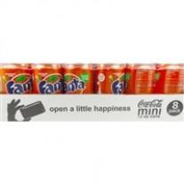 Fanta Orange Mini Cans - 7.5oz/24ct