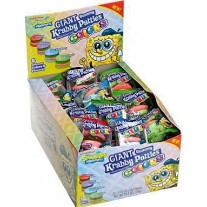 Spongebob Squarepants Giant Gummy Krabby Patties Candy Colors - 36 Count (.63oz)