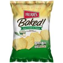 Herr's Baked! Sour Cream & Onion Potato Crisps - 1oz
