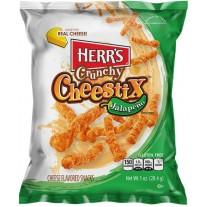 Herr's Crunchy Cheestix Jalapeño - 1oz