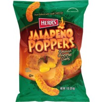 Herr's Jalapeno Poppers Flavored Cheese Curls- 1oz
