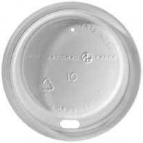 Paper Cup Sip Thru Lids 10oz - 1200ct