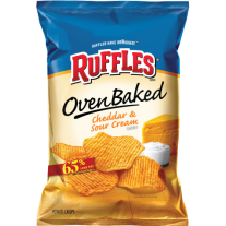 Ruffles Oven Baked Cheddar & Sour Cream - 1.25oz