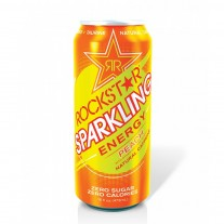 Rockstar Sparkling Energy Drink Peach- 16oz