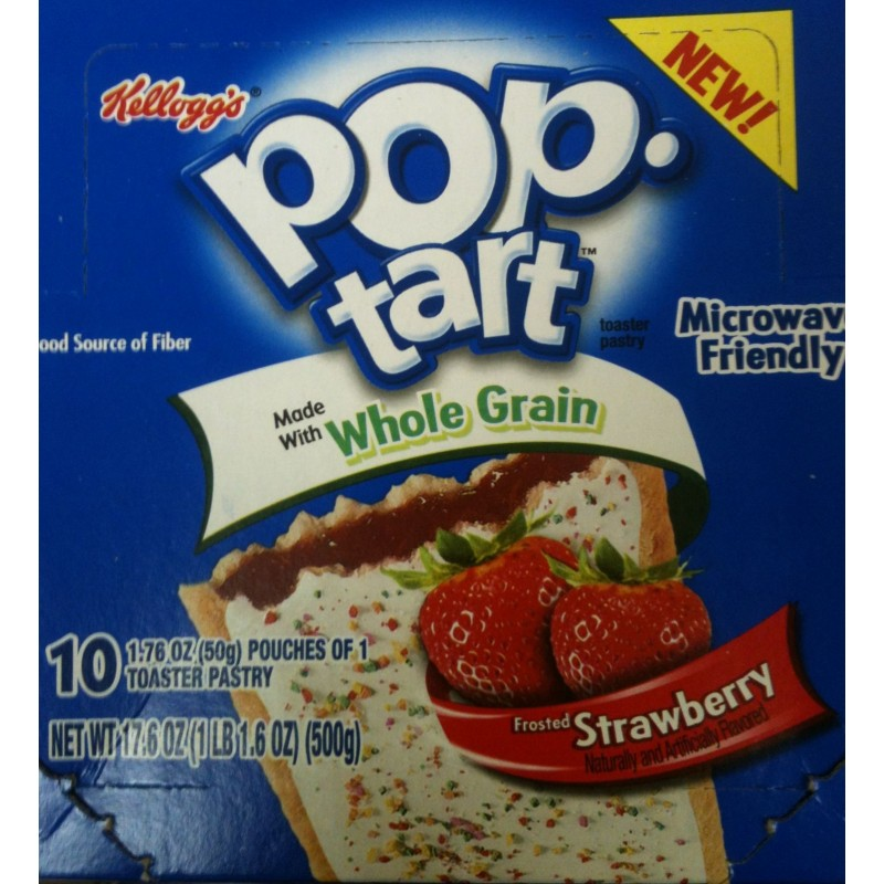 Pop Tart Strawberry Whole Grain 1 Toaster Pastry 1